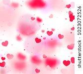 hearts random background. st.... | Shutterstock .eps vector #1023072526