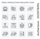 steel and metal production... | Shutterstock .eps vector #1023078496