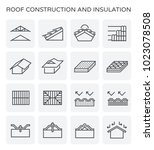 roof construction and...   Shutterstock .eps vector #1023078508