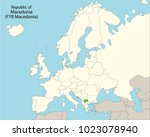 europe map  macedonia | Shutterstock .eps vector #1023078940