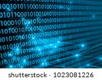 network on monitor screen | Shutterstock . vector #1023081226