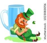 saint patrick day leprechaun... | Shutterstock .eps vector #1023083056