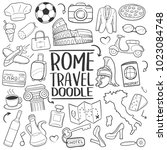 rome italy travel traditional... | Shutterstock .eps vector #1023084748