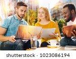 interesting discussion. calm...   Shutterstock . vector #1023086194