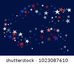 american patriotic decoration ... | Shutterstock .eps vector #1023087610
