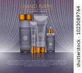 3d realistic cosmetic bottle... | Shutterstock .eps vector #1023089764