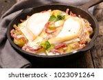 homemade french tartiflette | Shutterstock . vector #1023091264
