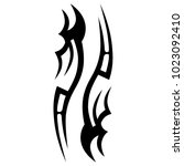 tattoo tribal vector design.... | Shutterstock .eps vector #1023092410