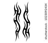 tattoo tribal vector design.... | Shutterstock .eps vector #1023092434