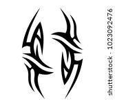 tribal pattern tattoo vector...   Shutterstock .eps vector #1023092476