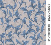 seamless damask pattern.... | Shutterstock .eps vector #1023093019