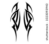 tribal tattoo pattern art deco... | Shutterstock .eps vector #1023093940