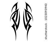 tattoo tribal vector designs.... | Shutterstock .eps vector #1023093940