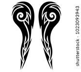tattoo tribal vector designs.... | Shutterstock .eps vector #1023093943