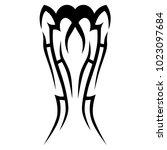 tattoo tribal vector design.... | Shutterstock .eps vector #1023097684