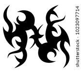 tattoo tribal vector design.... | Shutterstock .eps vector #1023097714