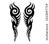 tattoo tribal vector designs.... | Shutterstock .eps vector #1023097729