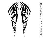tattoo tribal vector design. | Shutterstock .eps vector #1023097738