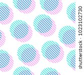 geometric seamless pattern with ... | Shutterstock .eps vector #1023102730