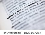 close up to the dictionary... | Shutterstock . vector #1023107284
