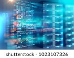 server room 3d illustration... | Shutterstock . vector #1023107326