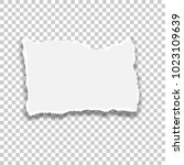 ripped paper. vector of ripped... | Shutterstock .eps vector #1023109639