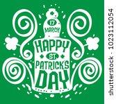 st. patricks day green... | Shutterstock .eps vector #1023112054