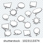 set of blank template in pop... | Shutterstock .eps vector #1023113374