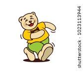 bear walk sign. | Shutterstock .eps vector #1023113944