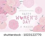 happy 8 march international... | Shutterstock .eps vector #1023122770