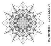 flower mandala decorative... | Shutterstock .eps vector #1023123109