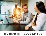 picture of business people... | Shutterstock . vector #1023124573