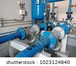 cooling system in factory | Shutterstock . vector #1023124840