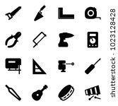 solid vector icon set   saw... | Shutterstock .eps vector #1023128428
