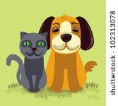 vector cartoon illustration  ... | Shutterstock .eps vector #102313078