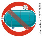prohibition of vessel for water ... | Shutterstock .eps vector #1023133870