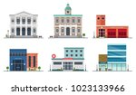 set of city buildings   city... | Shutterstock .eps vector #1023133966