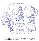 three princesses | Shutterstock .eps vector #102313618