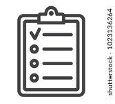 checklist line icon  clipboard...