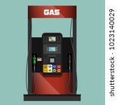 gas pump illustration | Shutterstock .eps vector #1023140029