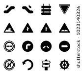 solid vector icon set  ... | Shutterstock .eps vector #1023140326