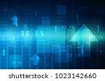 2d digital abstract business... | Shutterstock . vector #1023142660