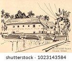 mattancherry palace  portuguese ... | Shutterstock . vector #1023143584