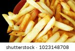 french fries  chips collateral... | Shutterstock . vector #1023148708