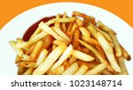french fries  chips collateral... | Shutterstock . vector #1023148714