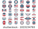 america vector label for banner ... | Shutterstock .eps vector #1023154783