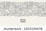 social media banner concept.... | Shutterstock .eps vector #1023156478