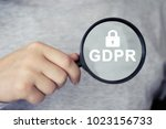 gdpr  general data protection... | Shutterstock . vector #1023156733