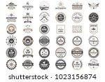 vintage retro vector logo for... | Shutterstock .eps vector #1023156874