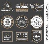 vintage retro vector logo for... | Shutterstock .eps vector #1023156943